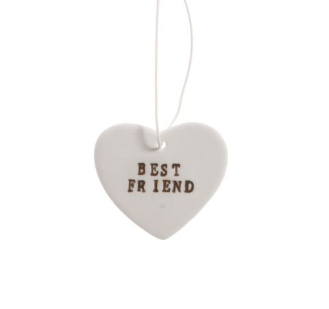 Best,Friend,Ceramic,Hanging,Heart,by,Sass,&,Belle,Best Friend Ceramic Hanging Heart