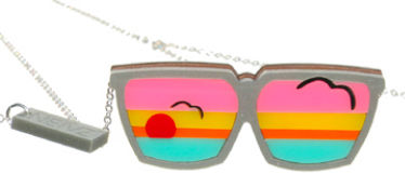70%,OFF,Sunset,Sunglasses,Necklace,BY,NEIVZ,70% OFF sunset sunglasses necklace neivz laser cut