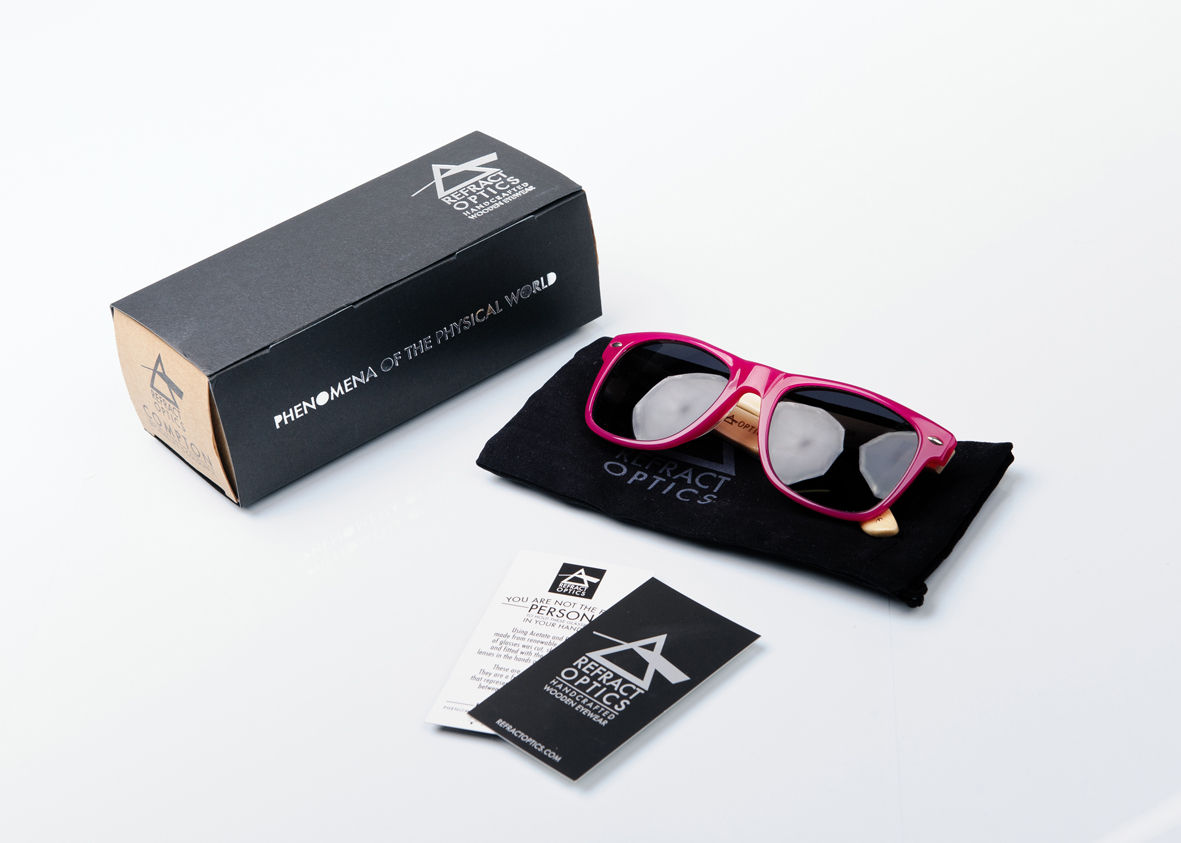 50% OFF REFRACTOPTICS® COMPTON: Magenta Acetate/Bamboo - product images  of