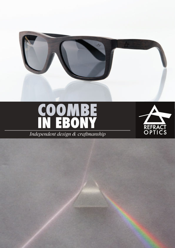 SALE 25% OFF REFRACTOPTICS® COOMBE: Ebony Wood Sunglasses - product images  of