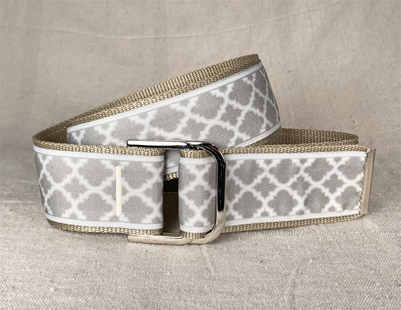 Women's Belt - Tan Moroccan Lattice 2 inch - product images