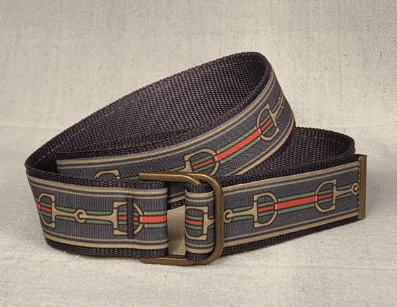Women's Belt -  Inch and a half wide Bits on Navy - product images