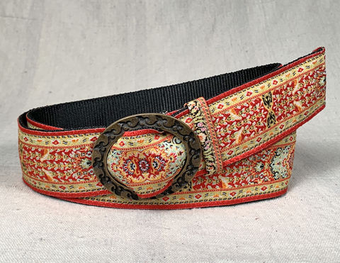 Turkish,Ribbon,Belt:,Crimson,Crimson belt, Red belt,  woven belt, ribbon belt, turkish ribbon belt, women's belt, vegan belt