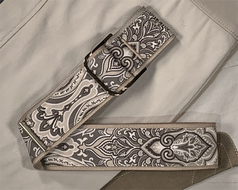 Women's,Belt,-,Victorian,Taupe,Paisley,equestrian belt, damask print belt, victorian print belt, 2 inch belt 2 inch wide belt,  woman's belt, Belt, taupe belt, brown belt, fabric belt, canvas belt, vegan belt, plus size belt