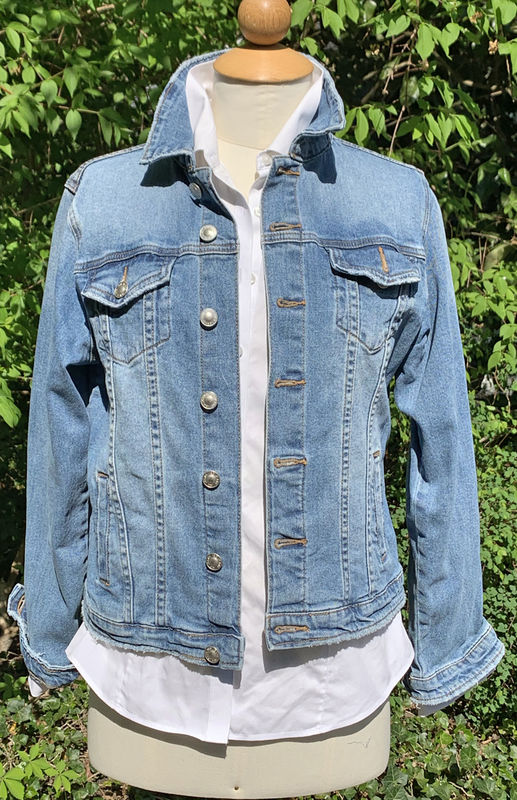 Denim Jacket with Fox Hunting Print - product images  of