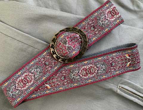 Turkish,Ribbon,Belt:,Burgundy,2 inch wide belt, turkish ribbon belt, burgundy belt, burgundy and grey belt, vegan belt, belt, turkish belt, woman's belt