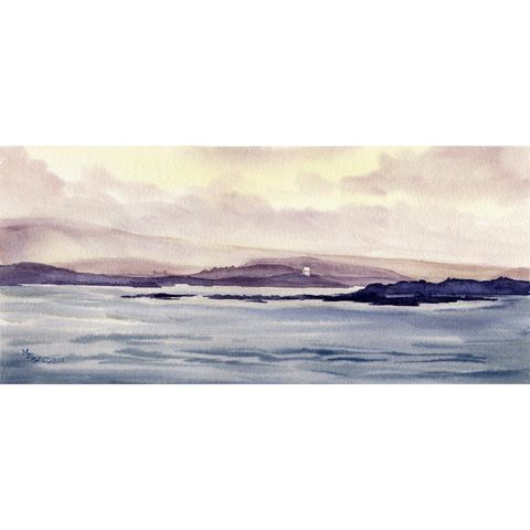 Scottish,Isles,Art,Print,Giclee,giclee,scotland,sea,islands,mists,clouds,watercolor paper,inks