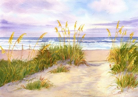 Golden,Moment,sunset,seascape,beach,decor,Art,Print,Giclee,print,watercolor,seashore,dunes,golden,sea_oats,justbeachy_team, coastal beach decorpaper,ink