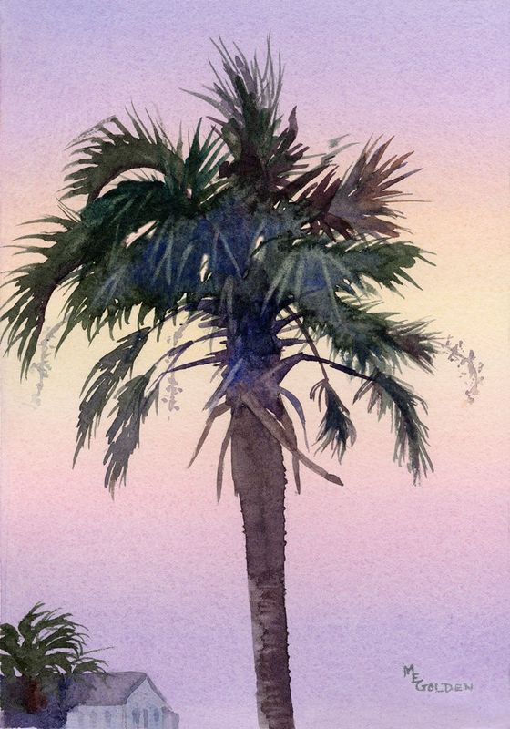 Sunrise Palm tree silhouetted against the sky - product images