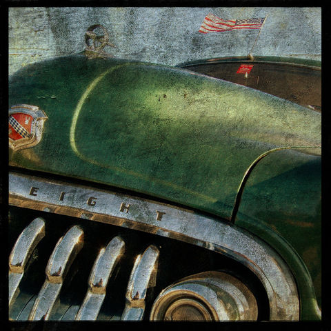 Buick,No.,2,-,8,in,x,Altered,Photograph,Art,Photography,Surreal,digital,brown,texture,moody,car,auto,buick,green,paper,ink
