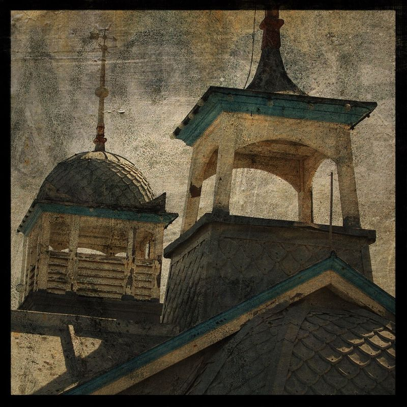 Eastbourne Cupolas - 8 in x 8 in Altered Photograph - product images