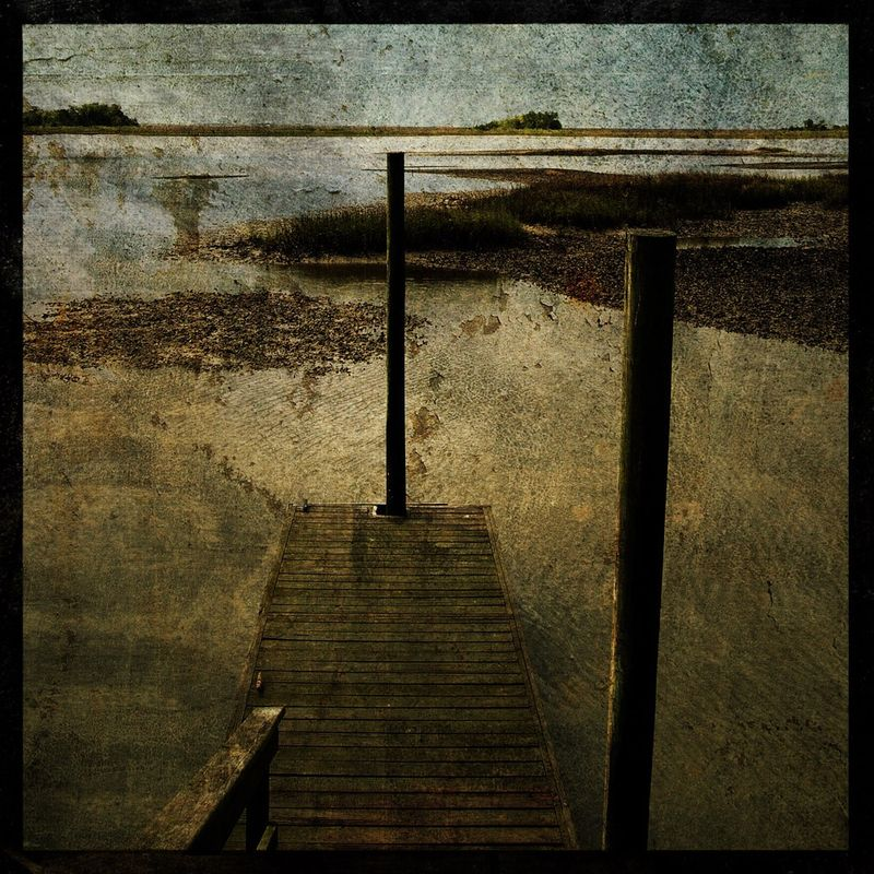 Oyster Beds - 8 in x 8 in Altered Photograph - product images