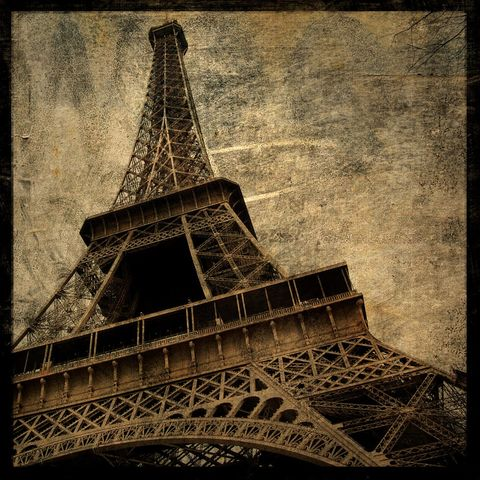 Paris,Decor,-,Eiffel,Tower,No.,2,Altered,Photograph,Art,Photography,Surreal,digital,brown,texture,moody,eiffel,tower,france,valentine_men,valentine_women,Paris_Decor,paper,ink