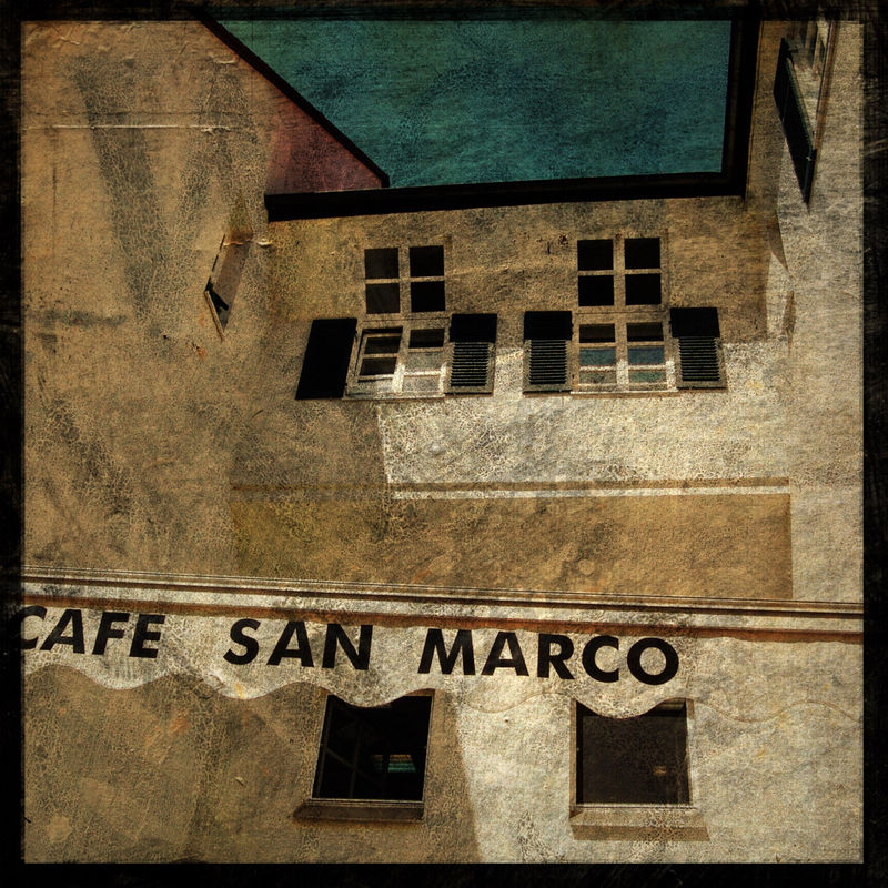 Cafe San Marco - Tubingen - 8 in x 8 in Altered Photograph - product images