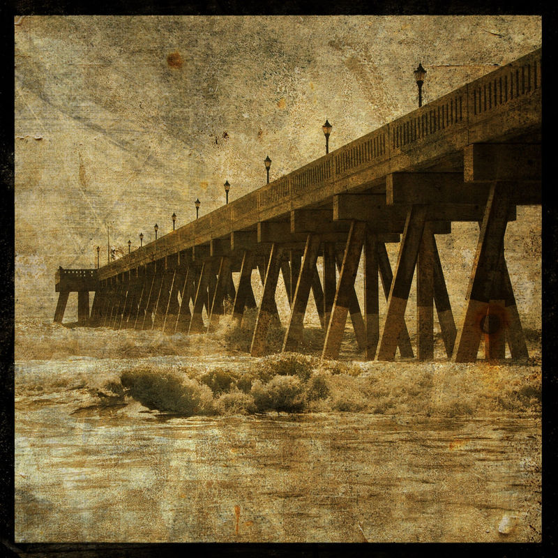Ocean Pier No. 2 - 8 in x 8 in Altered Photograph - product images