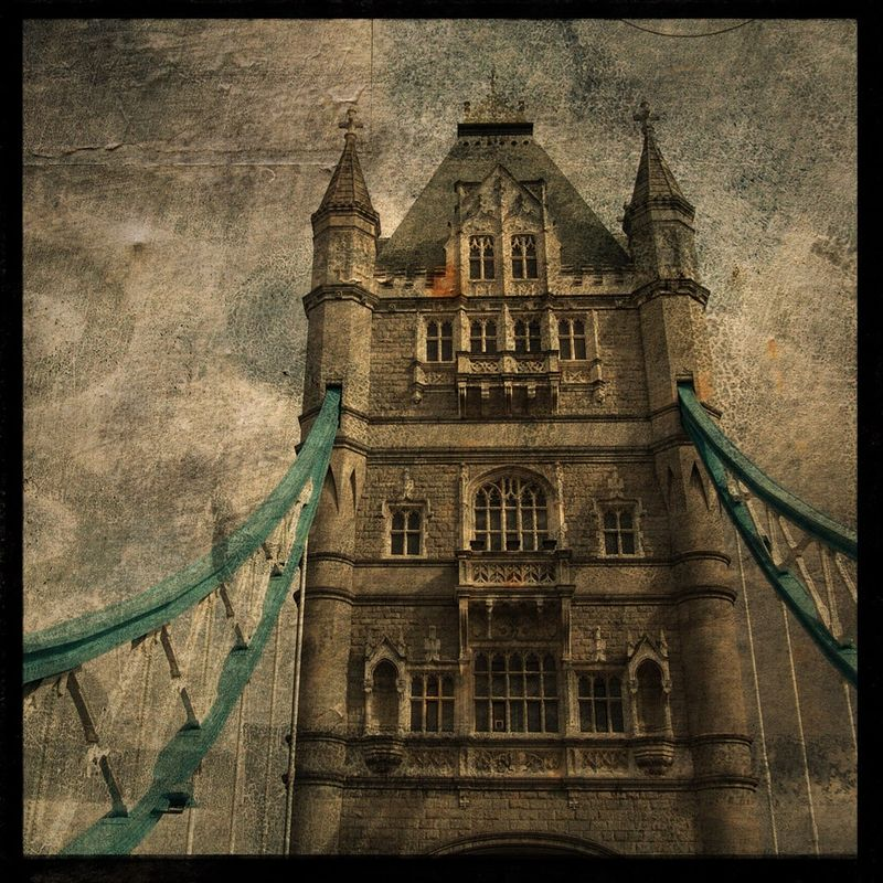 London Print - Tower Bridge No. 2 - 8 in x 8 in Altered Photograph - product images