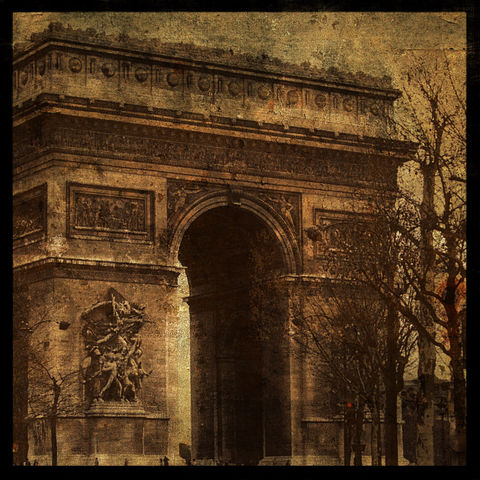 Arc,de,Triomphe,8,in,x,Altered,Photograph,Art,Photography,Surreal,arc_de_triomphe,paris,france,brown,texture,urban,paper,ink