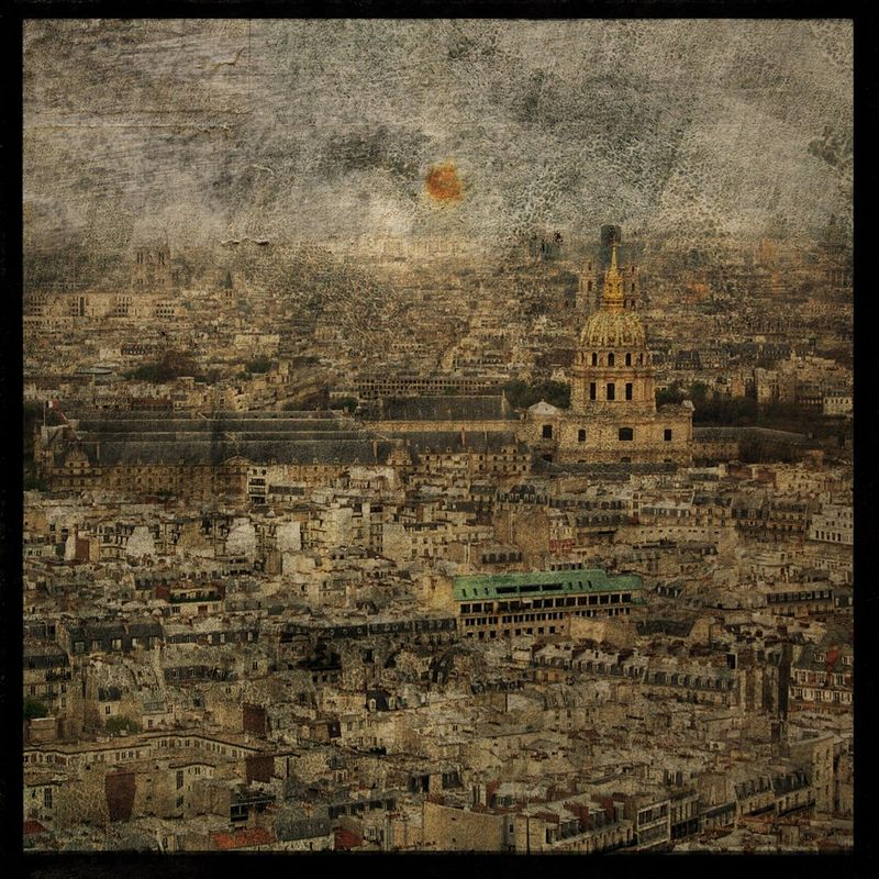 Paris Sky line No. 3 - 8 in x 8 in Altered Photograph - product images