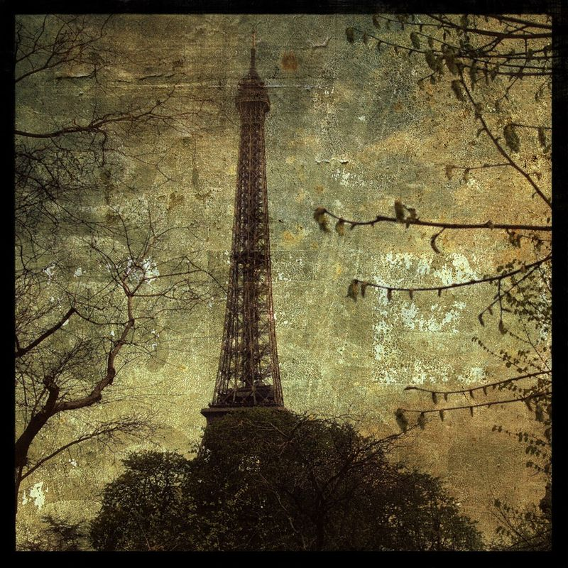 Paris Photo - Eiffel Tower No. 1 - 8 in x 8 in Altered Photograph - product images