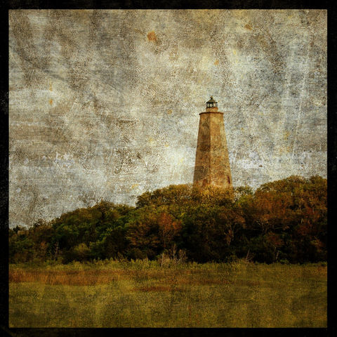 Bald,Head,Island,Light,No.,1,-,8,in,x,Altered,Photograph,Art,Photography,Surreal,digital,brown,texture,moody,bald_head,island,light,lighthouse,ocean,paper,ink