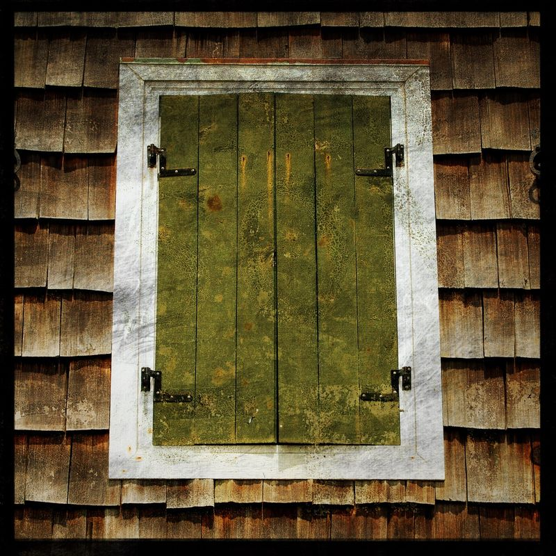 Shuttered - 8 in x 8 in Altered Photograph - product images