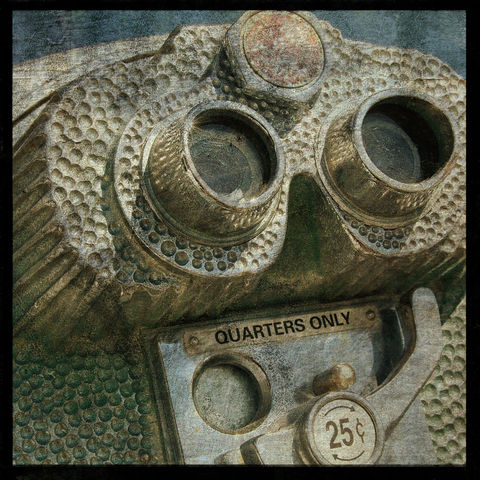 Quarters,Only,8,in,x,Altered,Photograph,Art,Photography,Digital,surreal,texture,yellow,moody,binoculars,paper,ink