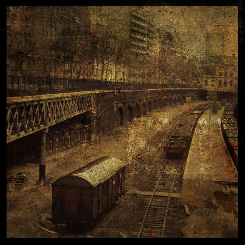 Paris Railroad - 8 in x 8 in Altered Photograph - product images