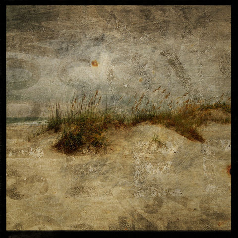 North,End,Dunes,-,8,in,x,Altered,Photograph,Art,Photography,Surreal,digital,brown,texture,moody,sea,dune,blue,altered,ocean,sand_dune,paper,ink