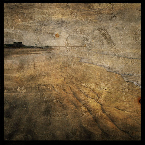 Crystal,Mist,-,8,in,x,Altered,Photograph,Art,Photography,Surreal,digital,brown,texture,moody,sea,dune,blue,altered,ocean,beach_art,pier,paper,ink