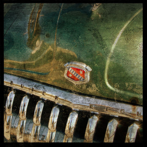 Buick,No.,1,-,8,in,x,Altered,Photograph,Art,Photography,Surreal,digital,brown,texture,moody,car,auto,buick,green,paper,ink