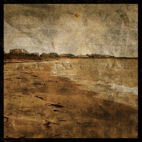 Cottages,-,8,in,x,Altered,Photograph,Art,Photography,Surreal,digital,texture,moody,beach,ocean,beach_cottage,cottage,paper,ink