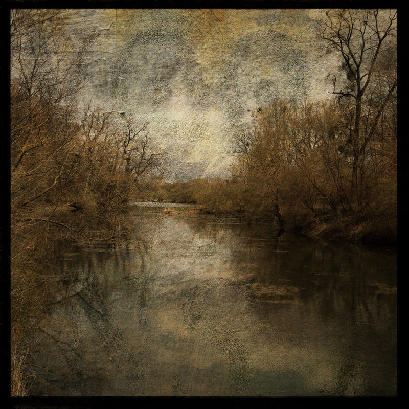 Alsace Pond No. 1 - 8 in x 8 in Altered Photograph - product images