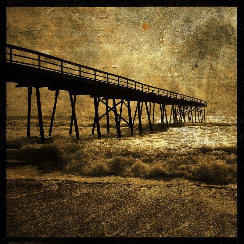 Ocean Pier No. 3 - 8 in x 8 in Altered Photograph - product images