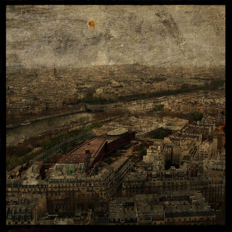 Paris Skyline No. 1 8 in x 8 in Altered Photograph - product images