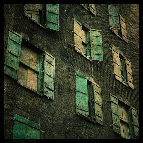 New,York,City,Art,-,Windows,8,in,x,Altered,Photograph,Photography,Digital,surreal,window,green,architectural,altered,texture,urban,New_York_City_Art,paper,ink