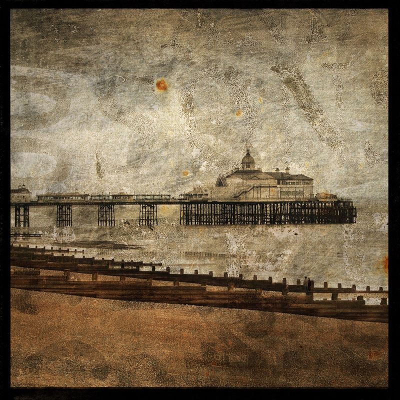 The Pier at Eastbourne - 8 in x 8 in Altered Photograph - product images