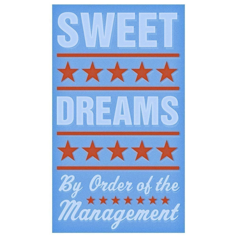 Art for Kids Room - Sweet Dreams (Blue) Print 6 in x 10 in - product images