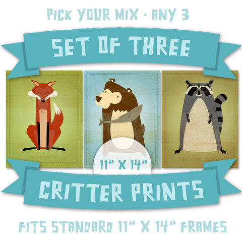 Nursery,Prints,-,Woodland,Critters,Series,Set,of,3,Illustrations,11,in,x,14,Children,Art,Print,kids,cute,animal,hedgehog,bear,possum,art,digital,nursery_prints,paper