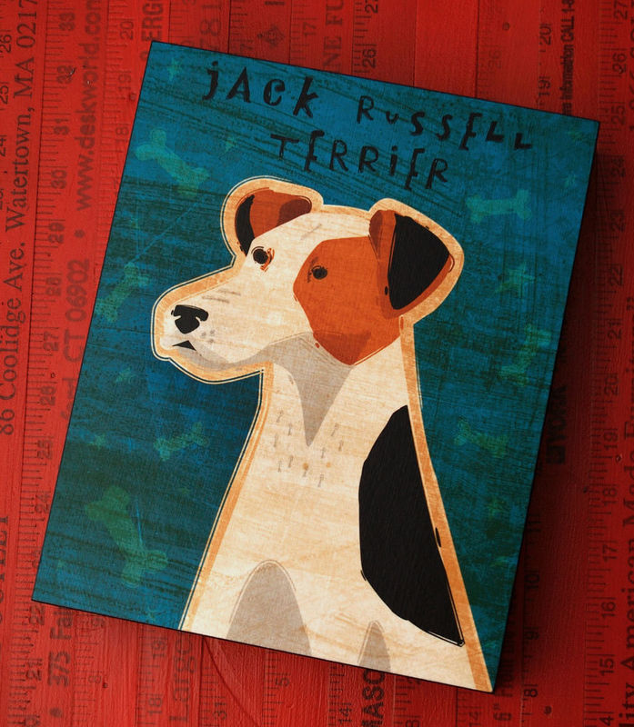Whimsical Dog Art Box - Pick Your Pooch - 8 in x 10 in - product images  of