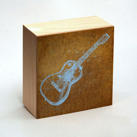 Guitar,Art,Print,Box,-,4,in,x,Pick,the,Vintage,illustration,inspired,retro,art,Illustration,Digital,wood,reproduction,mounted,cradled_board,box,vintage_illustration,retro_art,dictionary_art,guitar_art,paper,ink,glue,sealer