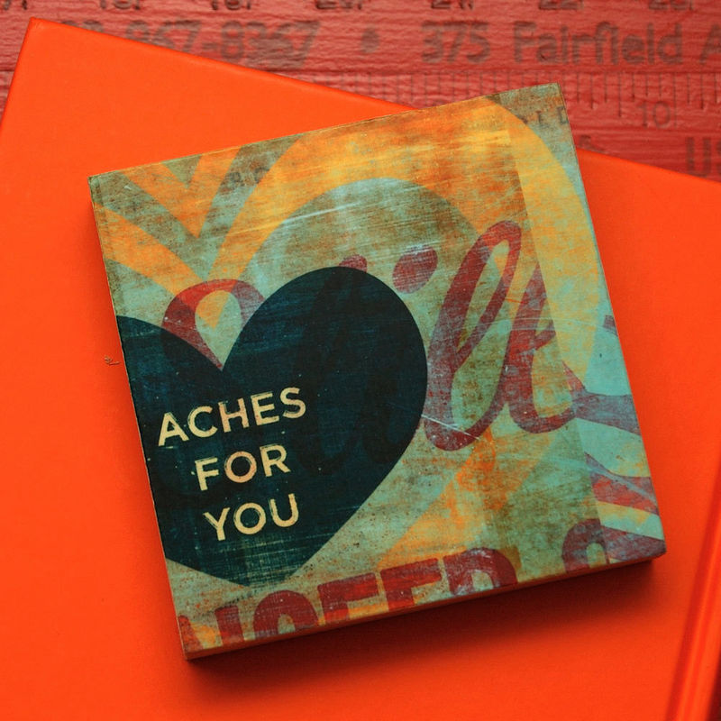 Love Art - My Heart Aches For You  Art Block - 4 in x 4 in - product images  of