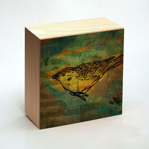 Wren,Art,Print,No.,1,Box,-,4,in,x,Pick,the,Vintage,illustration,inspired,art,Illustration,Digital,wood,reproduction,mounted,cradled_board,box,vintage_illustration,bird_art,wren_art_print,paper,ink,glue,sealer