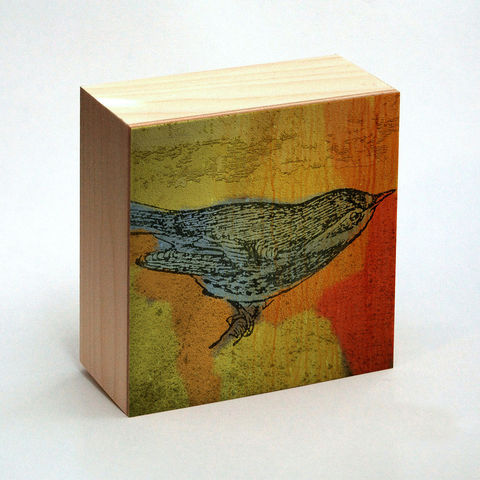Warbler,Art,Print,No.,1,Box,-,4,in,x,Pick,the,Vintage,illustration,inspired,art,Illustration,Digital,wood,reproduction,mounted,cradled_board,box,vintage_illustration,bird_art,Warbler_Art_Print,paper,ink,glue,sealer