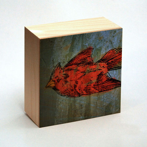 Cardinal,Art,Print,Box,-,4,in,x,Pick,the,Vintage,illustration,inspired,art,Illustration,Digital,wood,reproduction,mounted,cradled_board,box,vintage_illustration,cardinal_art_print,paper,ink,glue,sealer