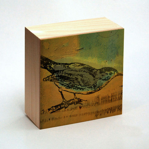 Catbird,Art,Print,Box,-,4,in,x,Pick,the,Vintage,illustration,inspired,art,Illustration,Digital,wood,reproduction,mounted,cradled_board,box,vintage_illustration,catbird_art_print,paper,ink,glue,sealer