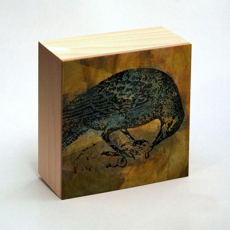 Raven Art Print Box - 4 in x 4 in - Pick the Print - Vintage illustration inspired art - product images  of