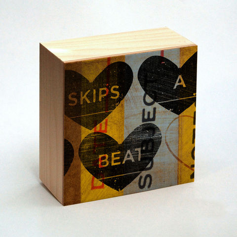 Heart,Artwork,-,Skips,A,Beat,Art,Box,4,in,x,Girlfriend,Gift,Illustration,Digital,reproduction,wood,block,heart,love,valentine,valentine_men,valentine_women,valentines_day,valentine_decor,skips_a_beat,heart_artwork,girlfriend_gift,paper,ink,glue,sealer