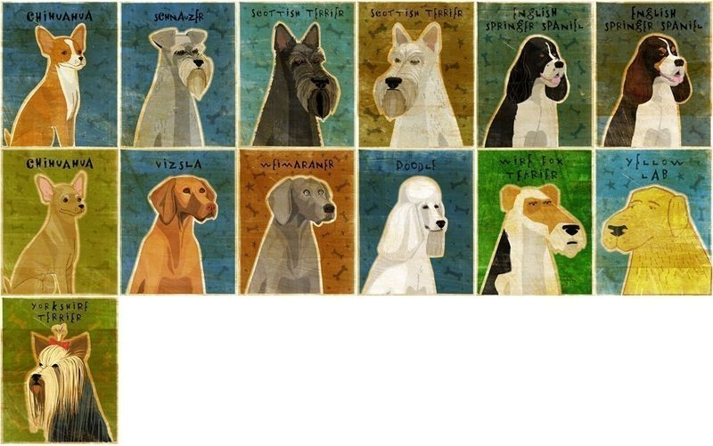 Personalize Your Pooch - Dog Art Block -  4 in x 5 in - product images  of