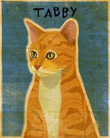 Ginger,Tabby,Print,8,in,x,10,Art,Illustration,digital,whimsical,cute,animals,animal,ginger,orange,tabby,cat,paper,ink
