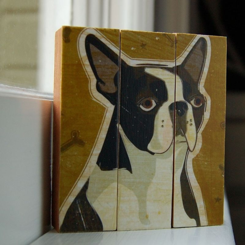 Pet Art - Pick Your Pooch or Kitty - Mini Triptych - product images  of